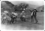 High School Motocross at Indian Dunes (me on right, starting the race