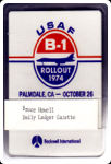 Original B-1 Rollout Press Badge